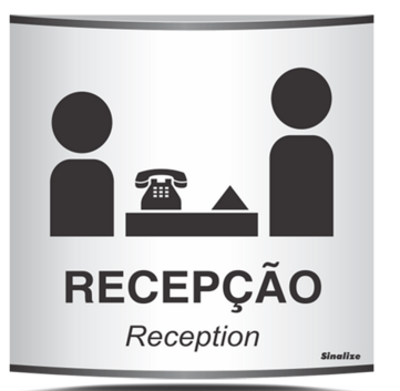 Placa Recepção - Calandrada - 500AC - Reception