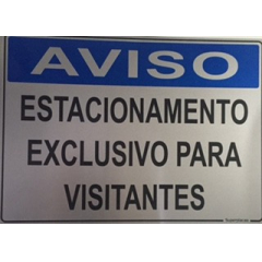 Placa Estacionamento Exclusivo Visitantes